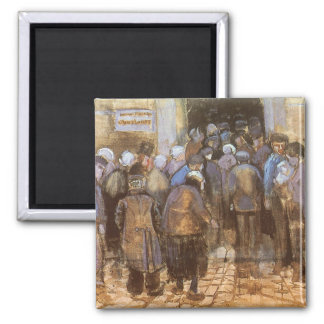 State Lottery Office (Poor Money) Vincent van Gogh Square Magnet