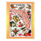 State Map of Florida (vintage reprint) Postcard