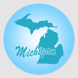 State Michigan Classic Round Sticker