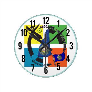 STATE NEW HAMPSHIRE GEOCACHER ROUND CLOCK