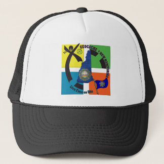 STATE NEW HAMPSHIRE GEOCACHER TRUCKER HAT