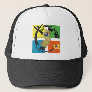 STATE NEW JERSEY MOTTO GEOCACHER TRUCKER HAT