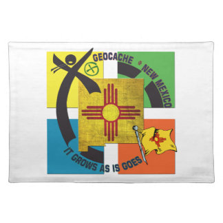 STATE  NEW MEXICO MOTTO GEOCACHER PLACEMAT