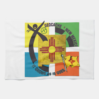 STATE  NEW MEXICO MOTTO GEOCACHER TEA TOWEL