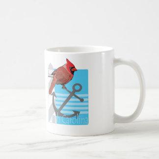 state north Carolina bird, light house Basic White Mug