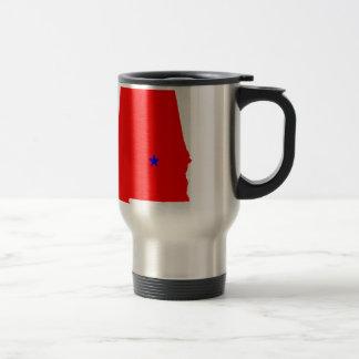 State of Alabama Stainless Steel Travel Mug