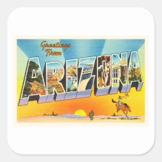 State of Arizona AZ Old Vintage Travel Souvenir Square Sticker