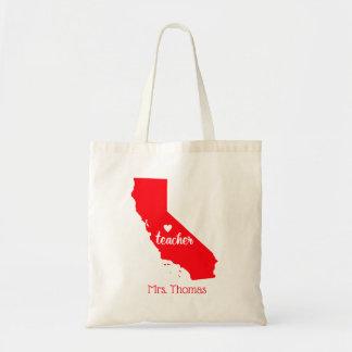 State of California Personalized Teacher Tote