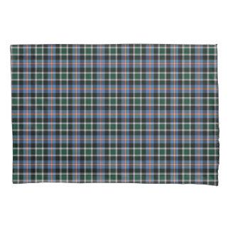 State of Colorado Tartan Blue and Black Plaid Pillowcase
