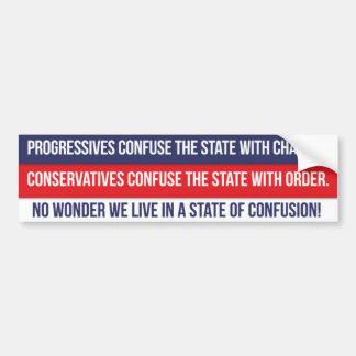 State of Confusion Bumper Sticker