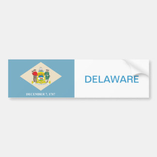 State of Delaware flag Bumper Sticker