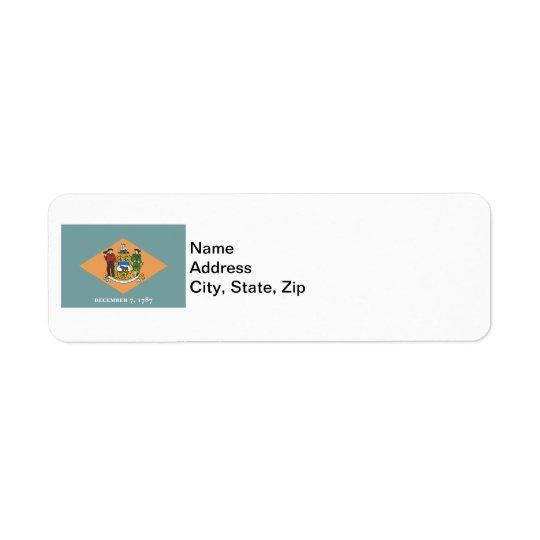 State of Delaware Flag Return Address Label