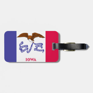 State of Iowa Flag luggage Tags. Luggage Tag