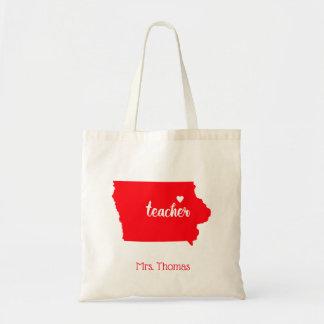 State of Iowa Personalized Teacher Tote