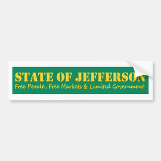 State of Jefferson bumber sticker