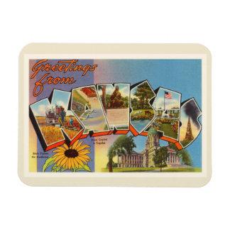 State of Kansas KS Old Vintage Travel Souvenir Rectangular Photo Magnet