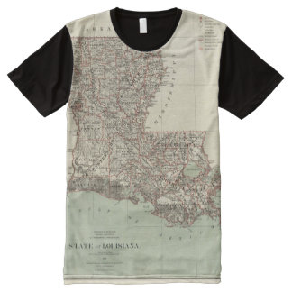 State of Louisiana All-Over Print T-Shirt