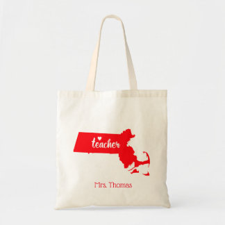 State of Massachusetts Personalized Teacher Tote