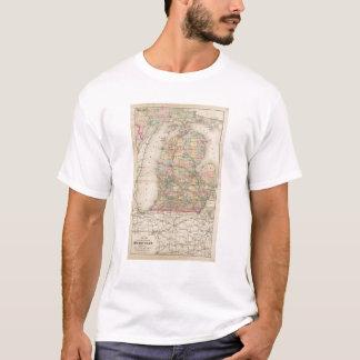 State of Michigan Atlas Map T-Shirt