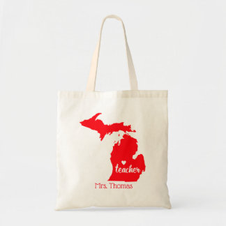 State of Michigan Personalized Teacher Tote
