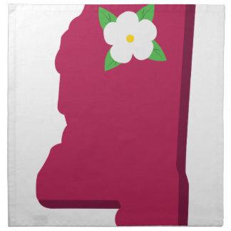 State Of Mississippi Printed Napkins