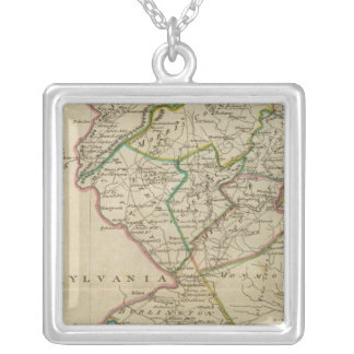 State of New Jersey 3 Square Pendant Necklace