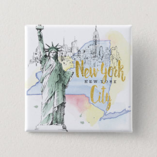 State of New York | Statue of Liberty 15 Cm Square Badge