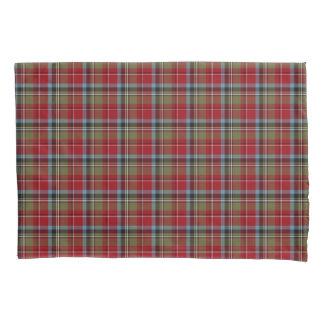 State of North Carolina Tartan Colorful Plaid Pillowcase