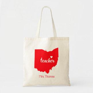 State of Ohio Personalized Teacher Tote