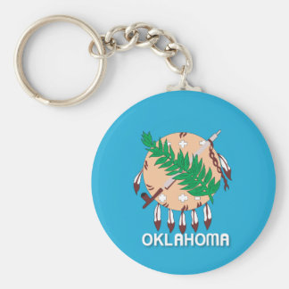State of Oklahoma flag Key Ring