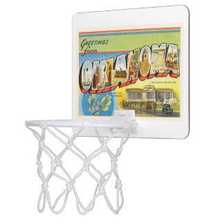 State of Oklahoma OK Old Vintage Travel Souvenir Mini Basketball Hoop
