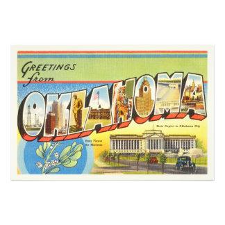 State of Oklahoma OK Old Vintage Travel Souvenir Photographic Print