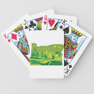 State of Oregon Map Environment Eco Outline Bicycle Playing Cards