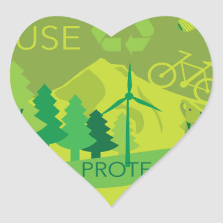 State of Oregon Map Environment Eco Outline Heart Sticker