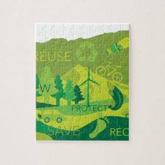 State of Oregon Map Environment Eco Outline Jigsaw Puzzle