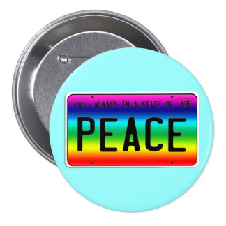 State of Peace Pinback Button