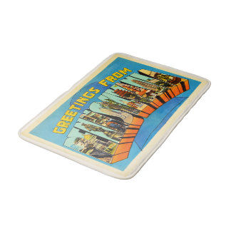 State of Pennsylvania PA Vintage Travel Souvenir Bath Mats