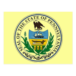 state of pennsylvania postcard