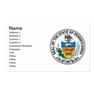 State of Pennsylvania seal Business Card Template