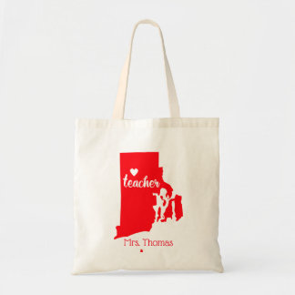 State of Rhode Island Personalized Teacher Tote