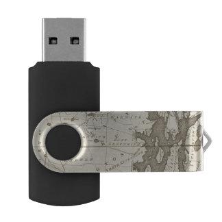 State of Rhode Island Swivel USB 2.0 Flash Drive