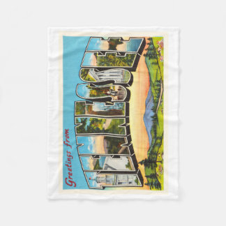 State of Tennessee TN Old Vintage Travel Souvenir Fleece Blanket