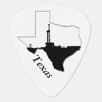 State of Texas and Oil Drilling Rig Plectrum