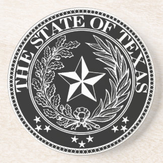State of Texas Coaster Black