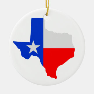 State of Texas Lone Star Ceramic Ornament
