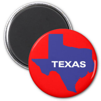 State of Texas 6 Cm Round Magnet