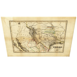 State of Texas Map (1846) Canvas Print
