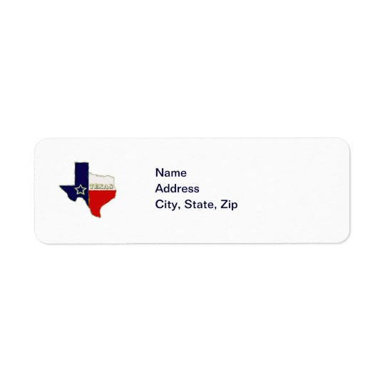 STATE OF TEXAS RETURN ADDRESS LABEL