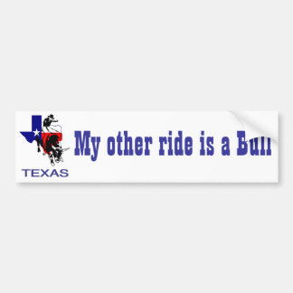 State of Texas Rodeo Bull Rider Bumper Sticker