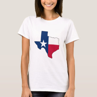 State of Texas Texas Flag Outline T-shirt